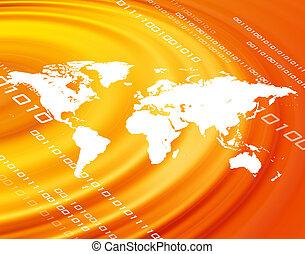 pomarańcza, światowa mapa