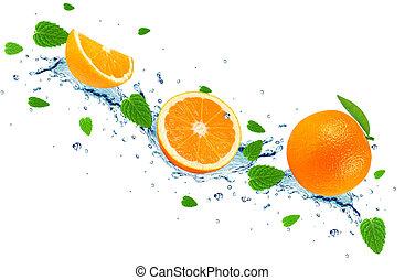 pomarańcza, bryzg