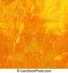 pomarańcza, grunge, tło, textured
