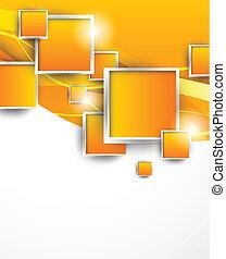 pomarańcza, kwadraty, tło