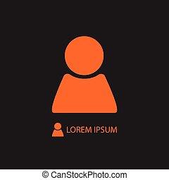 pomarańcza, osoba, czarnoskóry, znak