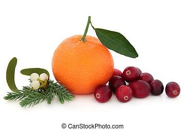 pomarańcza, owoc, żurawina