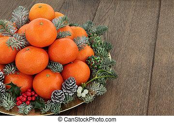 pomarańcza, owoc, mandaryn, satsuma