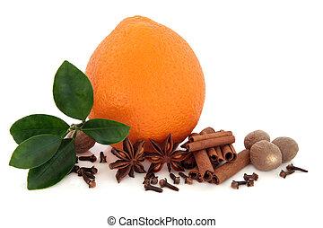 pomarańcza, owoc, przyprawy