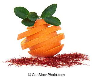 pomarańcza, owoc, szafran