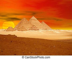 pomarańcza, piramida, sunse