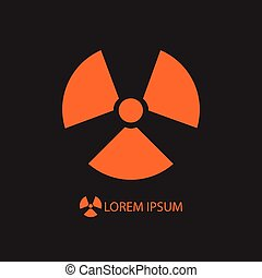pomarańcza, promieniowanie, czarnoskóry, znak