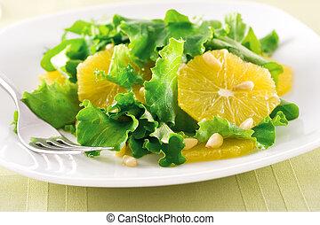 pomarańcza, sałata