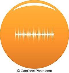 pomarańcza, stabilizator, wektor, cyfrowy, ikona
