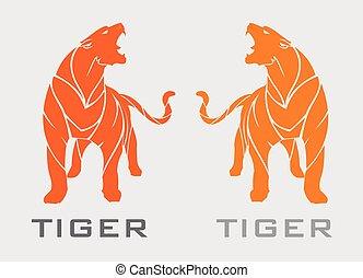pomarańcza, tiger, reputacja, piękny