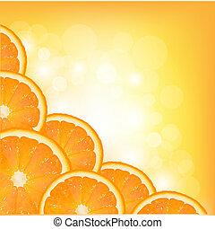pomarańcza, ułożyć, segment