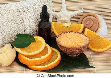 pomarańcza, zdrój, owoc