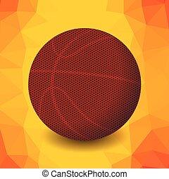 pomarańczowy basketball, ikona