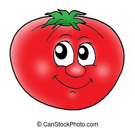 pomidor, uśmiechanie się