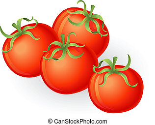 pomidory, ilustracja
