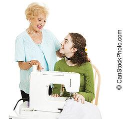 pomoc, babcia