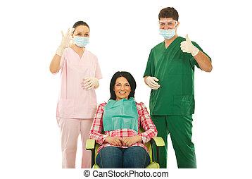 pomyślny, stomatologiczne leczenie