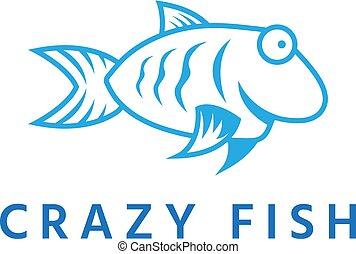 pomylony, fish, wektor, projektować, szablon, zabawa