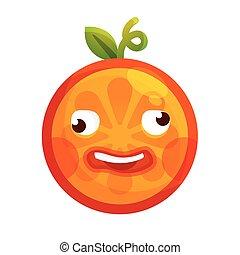 pomylony, -, odizolowany, orange., vector., emoji