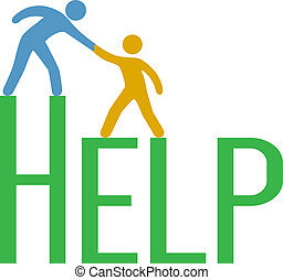poparcie, odpowiedź, ludzie, krok, do góry, znaleźć, pomoc