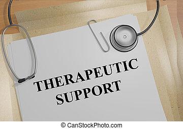 poparcie, pojęcie, terapeutyczny