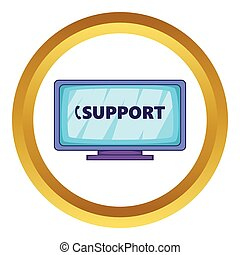poparcie, wektor, ikona