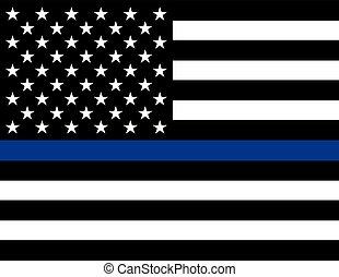 poparcie, wykonanie, bandera, prawo