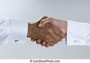 porozumienie, arab, closeup, biznesmeni, zrobienie, saudi