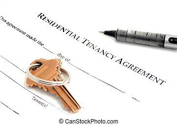 porozumienie, mieszkaniowy, tenancy