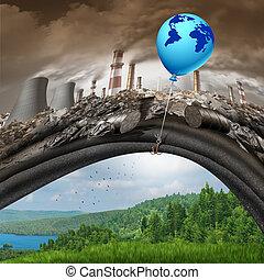 porozumienie, zmiana, globalny, klimat