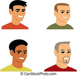 portret, avatar, rysunek, ilustracja