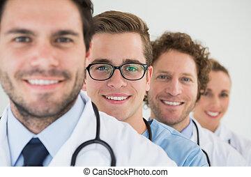 portret, drużyna, medyczny
