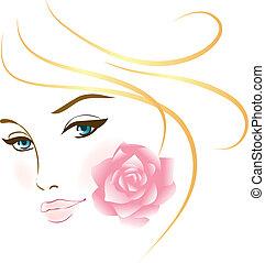 portret, dziewczyna, piękno, twarz