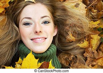 portret, jesienny