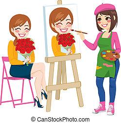 portret, malarstwo, artysta