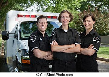 portret, medyczny nagły wypadek, drużyna