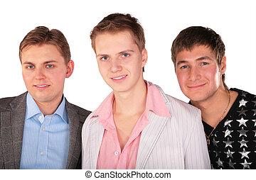 portret, przyjaciele, trzy