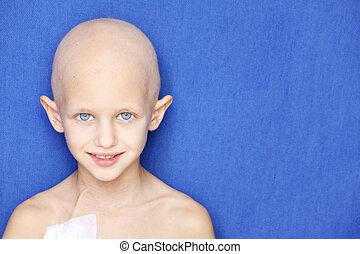 portret, rak, dziecko