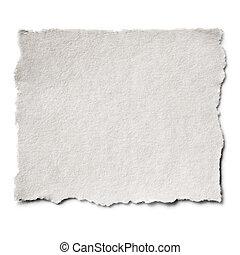 porwany papier, odizolowany