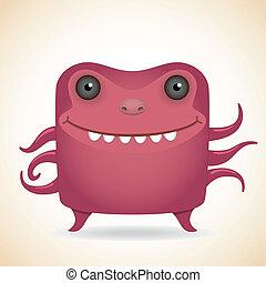 potwór, czerwony