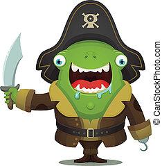potwór, pirat