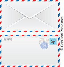 powietrze koperta poczty