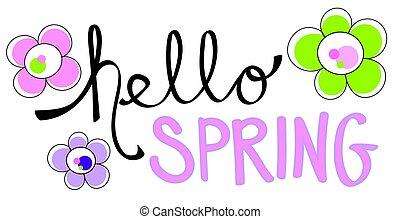 powitanie, wiosna