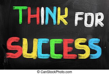 powodzenie, pojęcie, myśleć