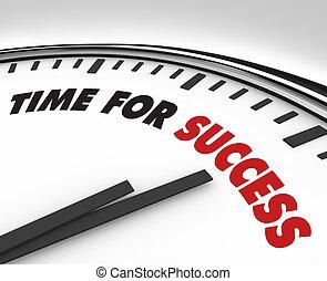 powodzenie, zegar, -, cele, czas, osiągnięcie