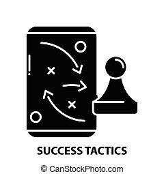 powodzenie, znak, editable, pojęcie, ilustracja, uderzenia, wektor, czarnoskóry, taktyka, ikona