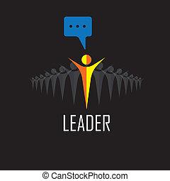 powodzenie, -, zwycięzca, icons., wektor, przewodnictwo, lider