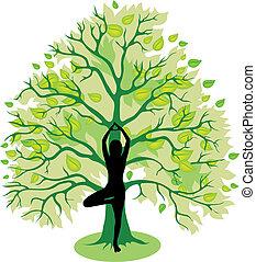 poza drzewa, yoga
