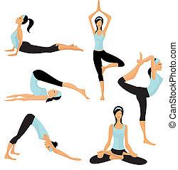 pozy, yoga