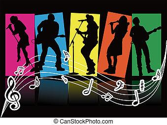pozycje, śpiewak, muzyka